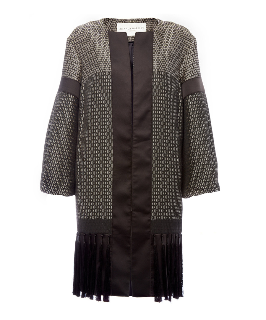 Geometric black tiled coat Sale - Amanda Wakeley