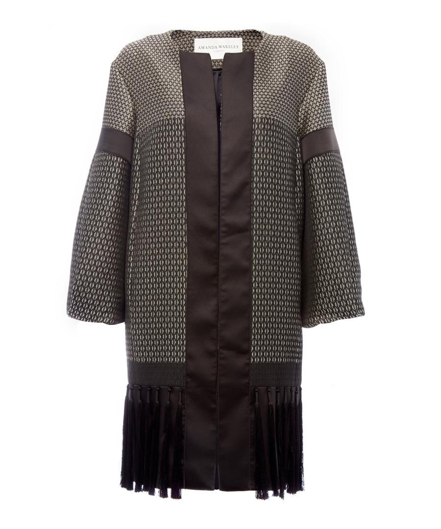 Geometric black tiled coat Sale - amanda wakeley