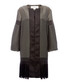 Geometric black tiled coat Sale - Amanda Wakeley Sale