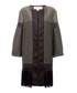 Geometric black tiled coat Sale - amanda wakeley Sale