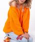 Orange off-the-shoulder jumper Sale - fobya Sale