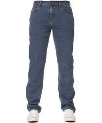 Men's Basic Regular Blue Jeans