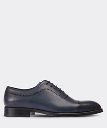 Navy leather Derby shoes