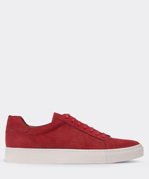 real suede red sneaker man shoe