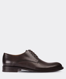real leather brown classic man shoe