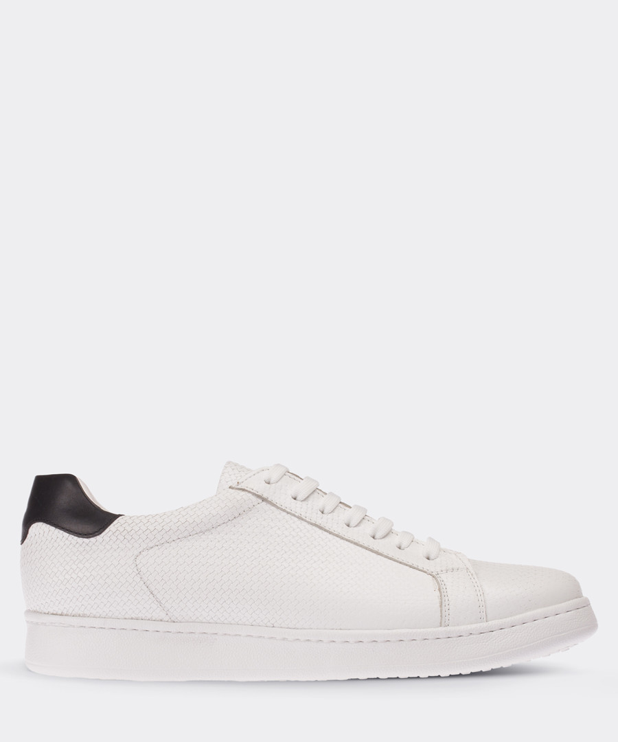 real leather white sport man shoe Sale - deery man