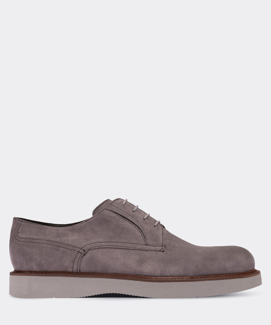 real suede gray casual man shoe Sale - deery man