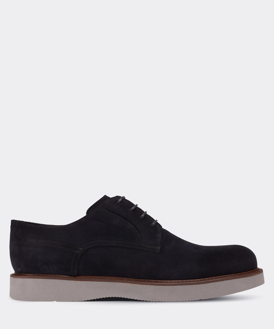 real suede navy casual man shoe Sale - deery man