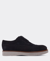 real suede navy daily man shoe