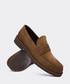 Brown suede casual slip-on shoes Sale - deery man Sale