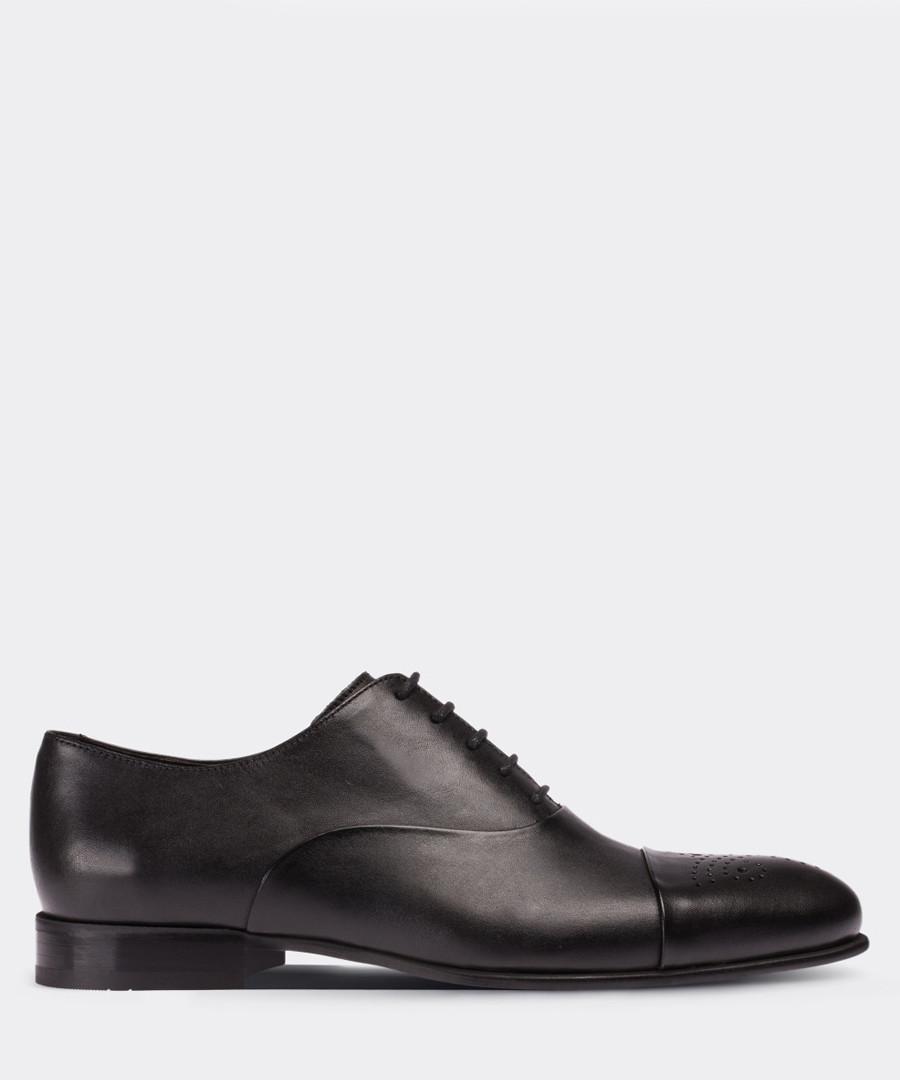real leather black classic man shoe Sale - deery man