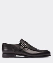 real leather special production black classic man shoe