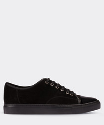 real suede black sneaker man shoe