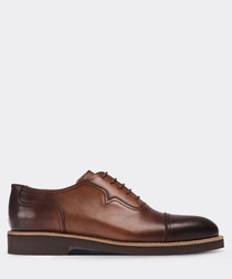 real leather tobacco  daily man shoe