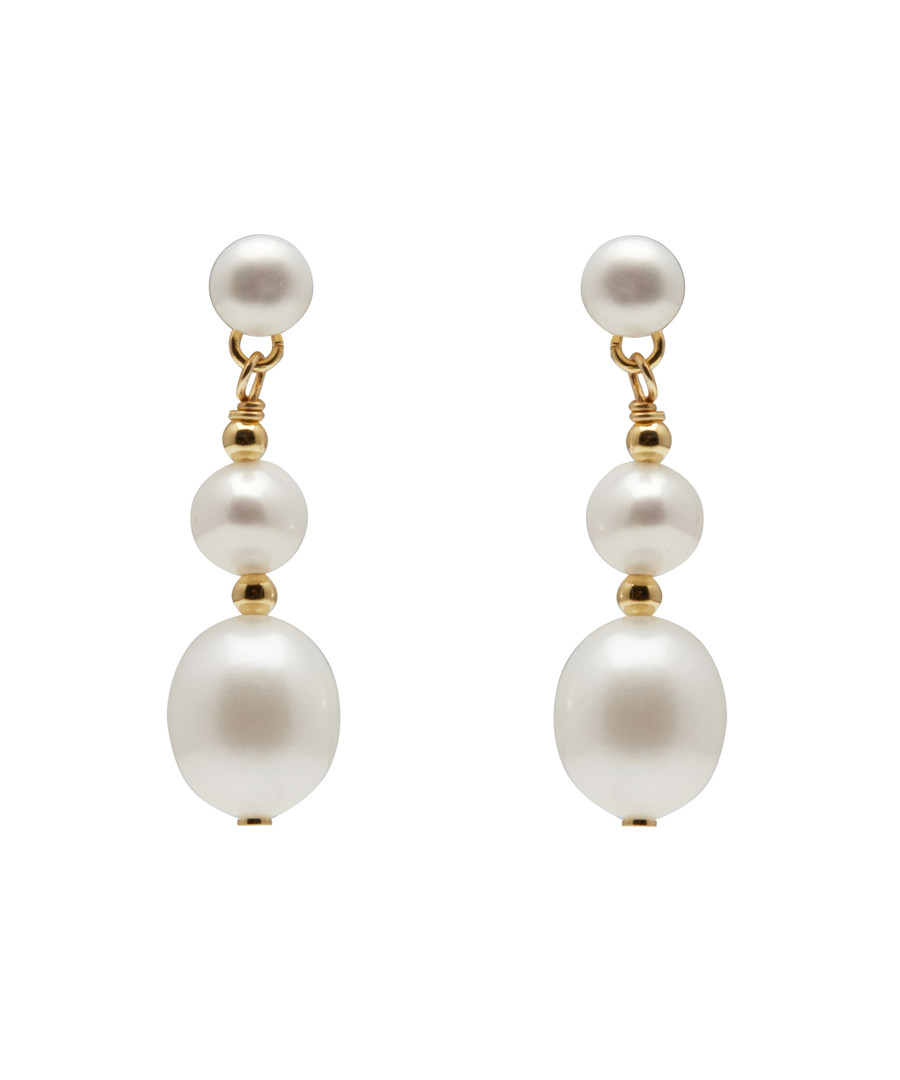 0.8cm pearl & gold-plated earrings Sale - Windsor Pearl