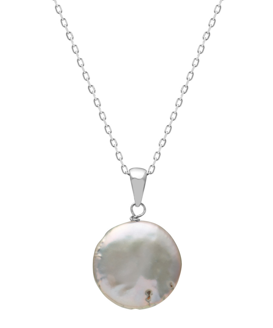 1.2cm pearl & sterling silver necklace Sale - Windsor Pearl