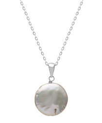 1.2cm pearl & sterling silver necklace