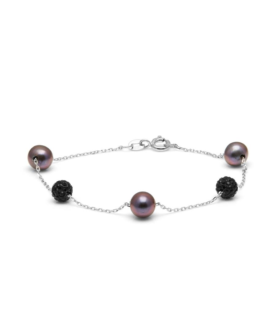 0.8cm pearl & crystal bracelet Sale - Windsor Pearl