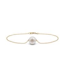 1.2cm pearl & sterling silver bracelet