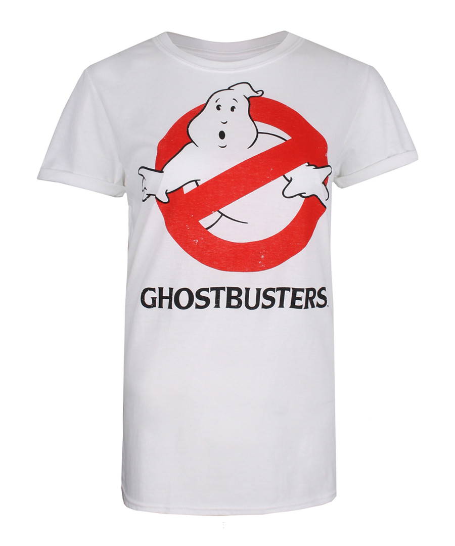 Women's white Ghostbusters T-shirt Sale - iconic collection