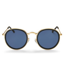 Adalynn black rounded sunglasses