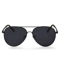 Lamar black pilot sunglasses