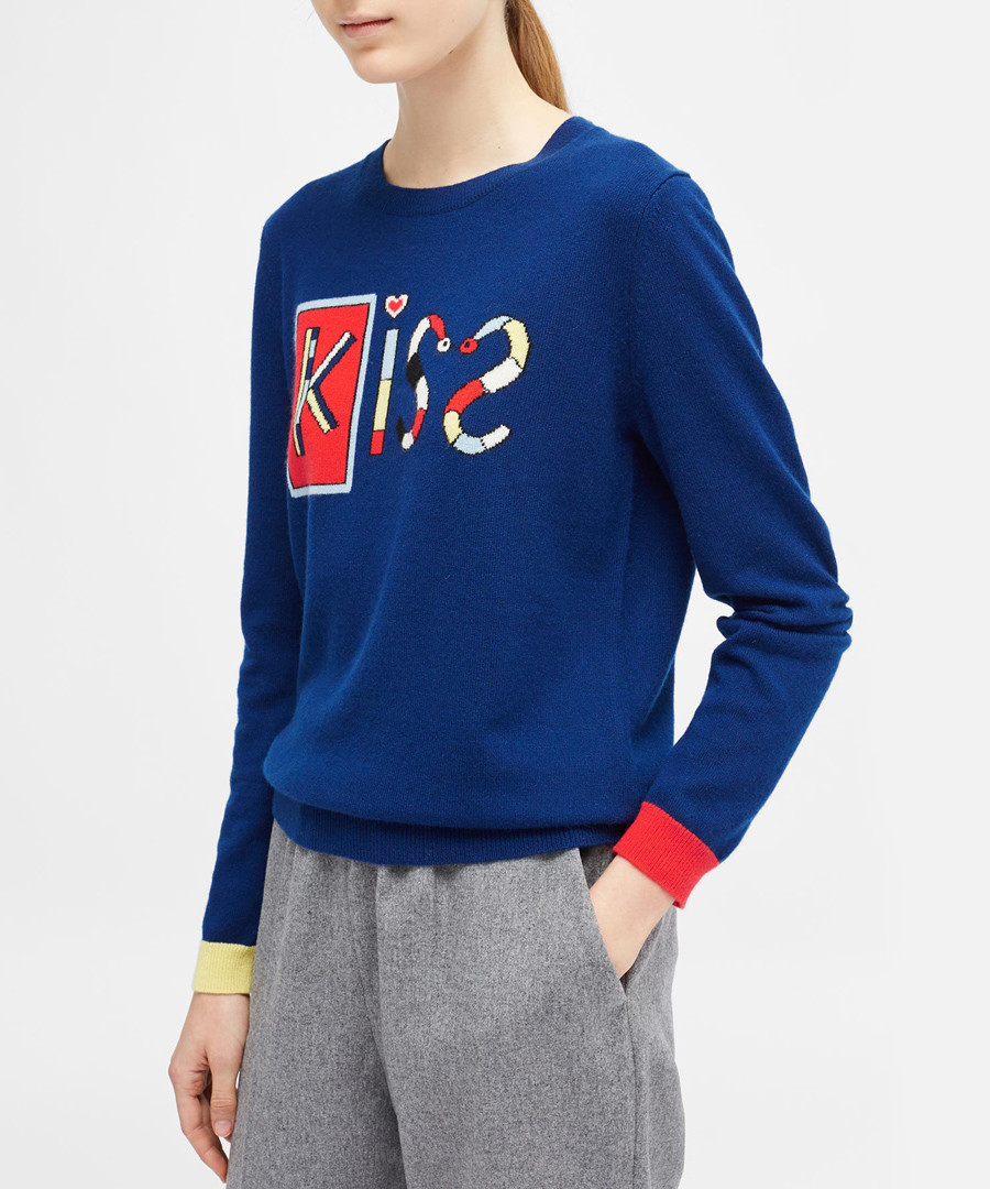 Mexican Kiss blue pure cashmere jumper Sale - chinti & parker