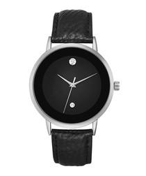 the juliet black leather minimal watch