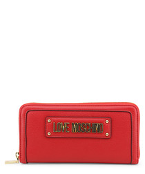 Red logo purse