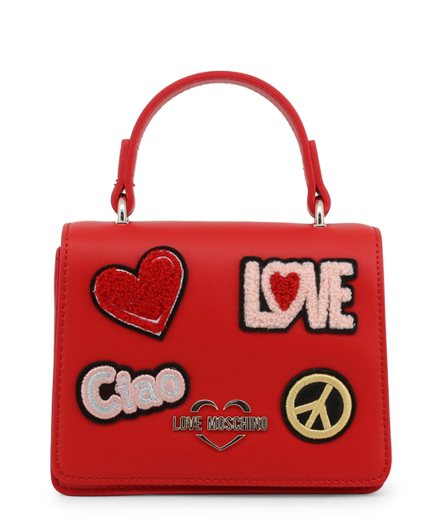 Red love & peace patch grab bag Sale - love moschino