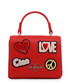 Red love & peace patch grab bag Sale - love moschino Sale