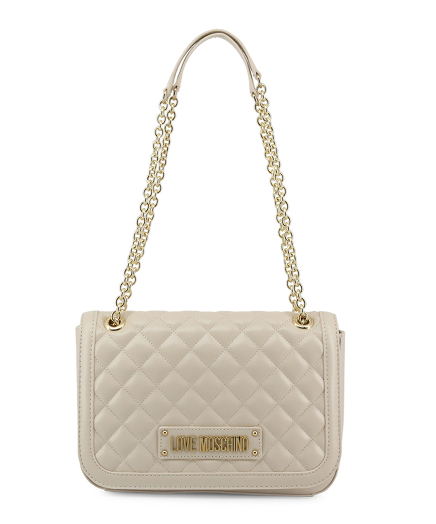 White quilted chain shoulder bag Sale - love moschino