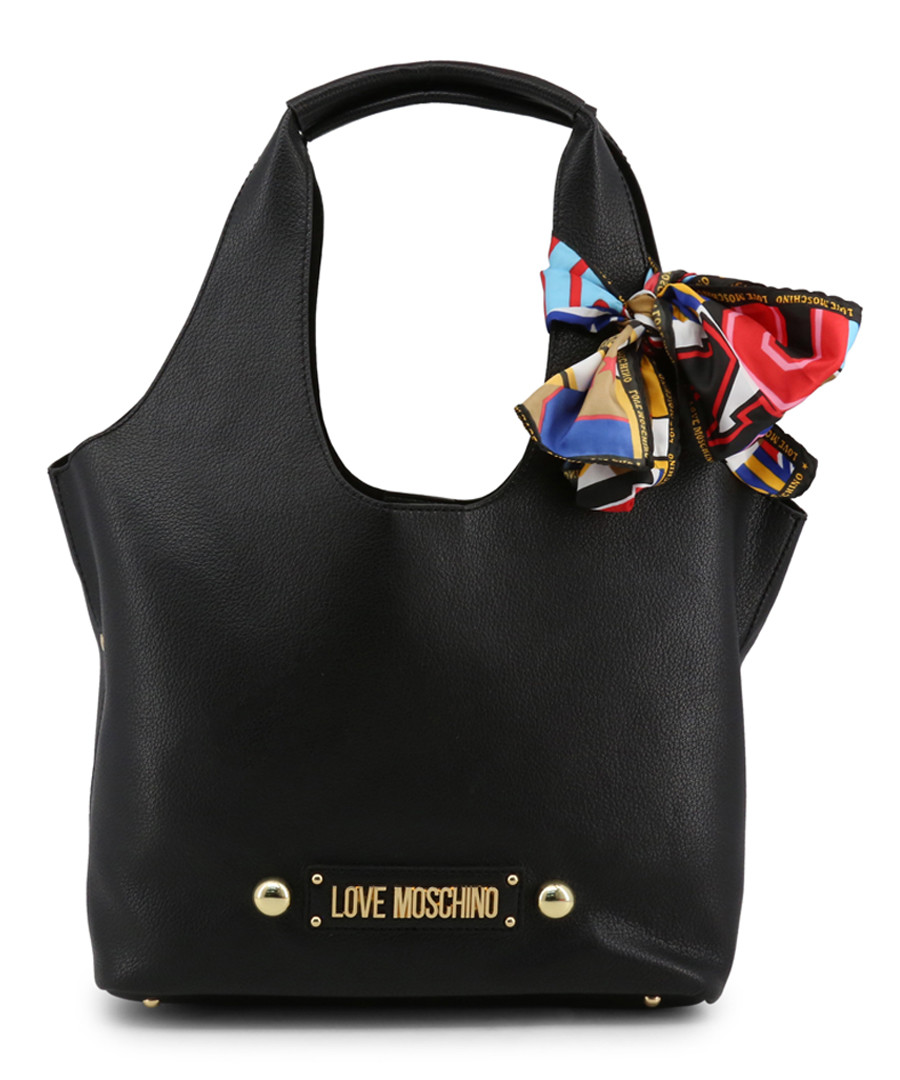 Black bow shopper bag Sale - Love Moschino