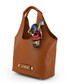 Tan bow shopper bag Sale - love moschino Sale