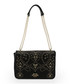 Black embellished chain shoulder bag Sale - love moschino Sale
