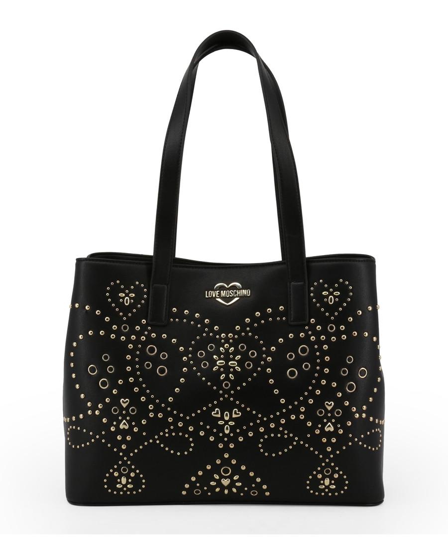Black embellished shoulder bag Sale - love moschino