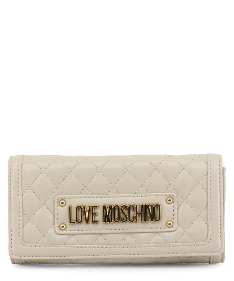 Cream quilted logo crossbody Sale - love moschino