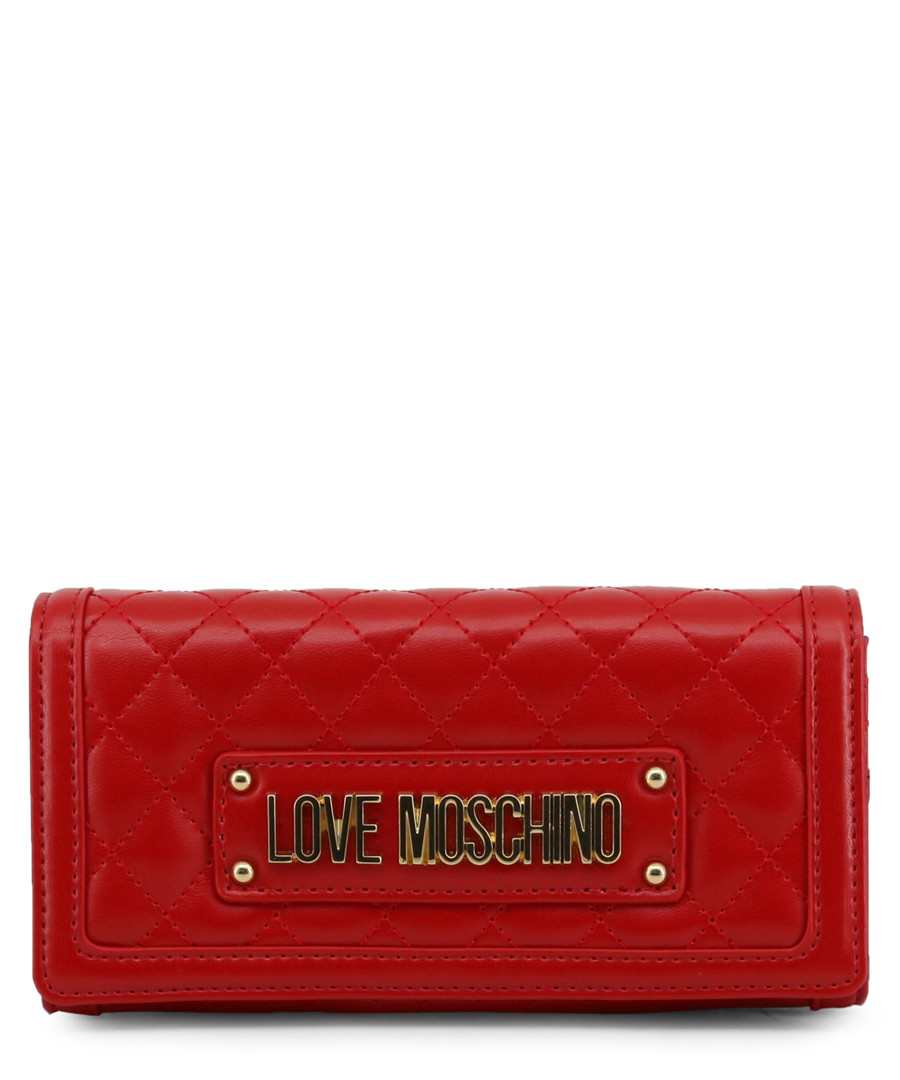 Red quilted logo crossbody Sale - love moschino