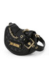 Black quilted semi shoulder bag Sale - Love Moschino Sale