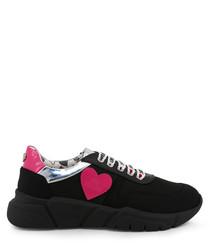 Black & pink heart sneakers