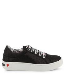 Black glitter sneakers