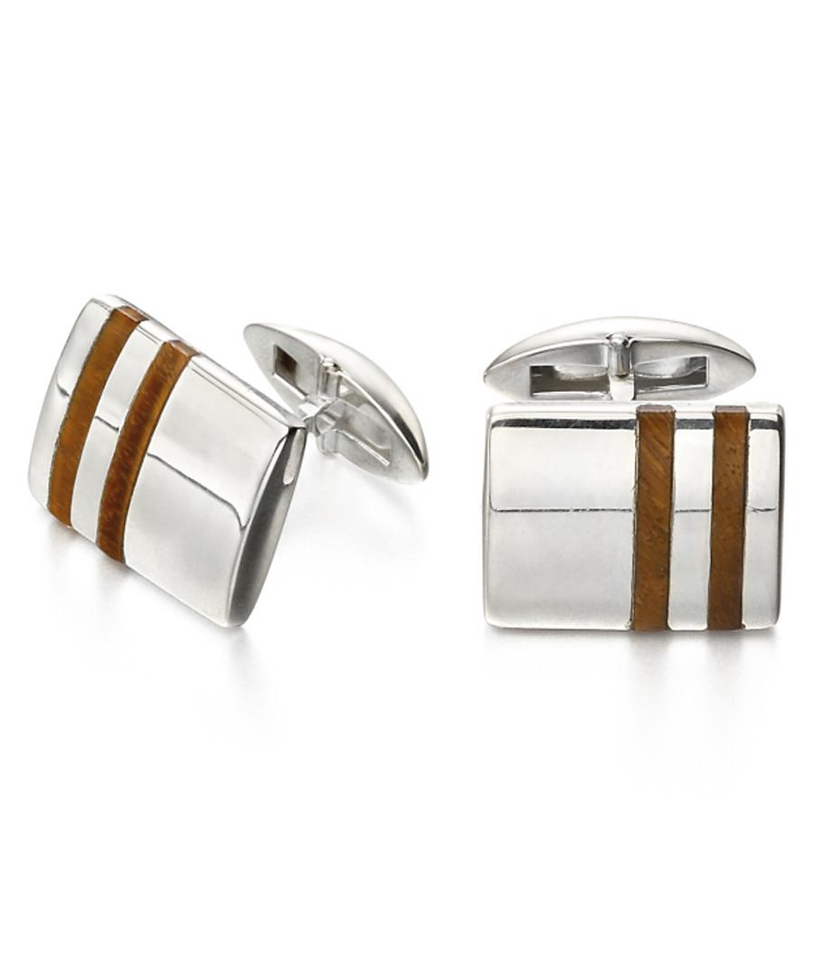 Tiger's Eye & sterling silver cufflinks Sale - fred bennett