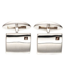 smoky quartz & sterling silver cufflinks
