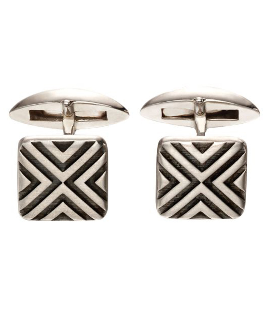 Linear sterling silver cufflinks Sale - fred bennett