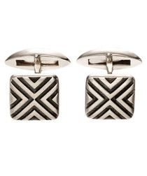 Linear sterling silver cufflinks