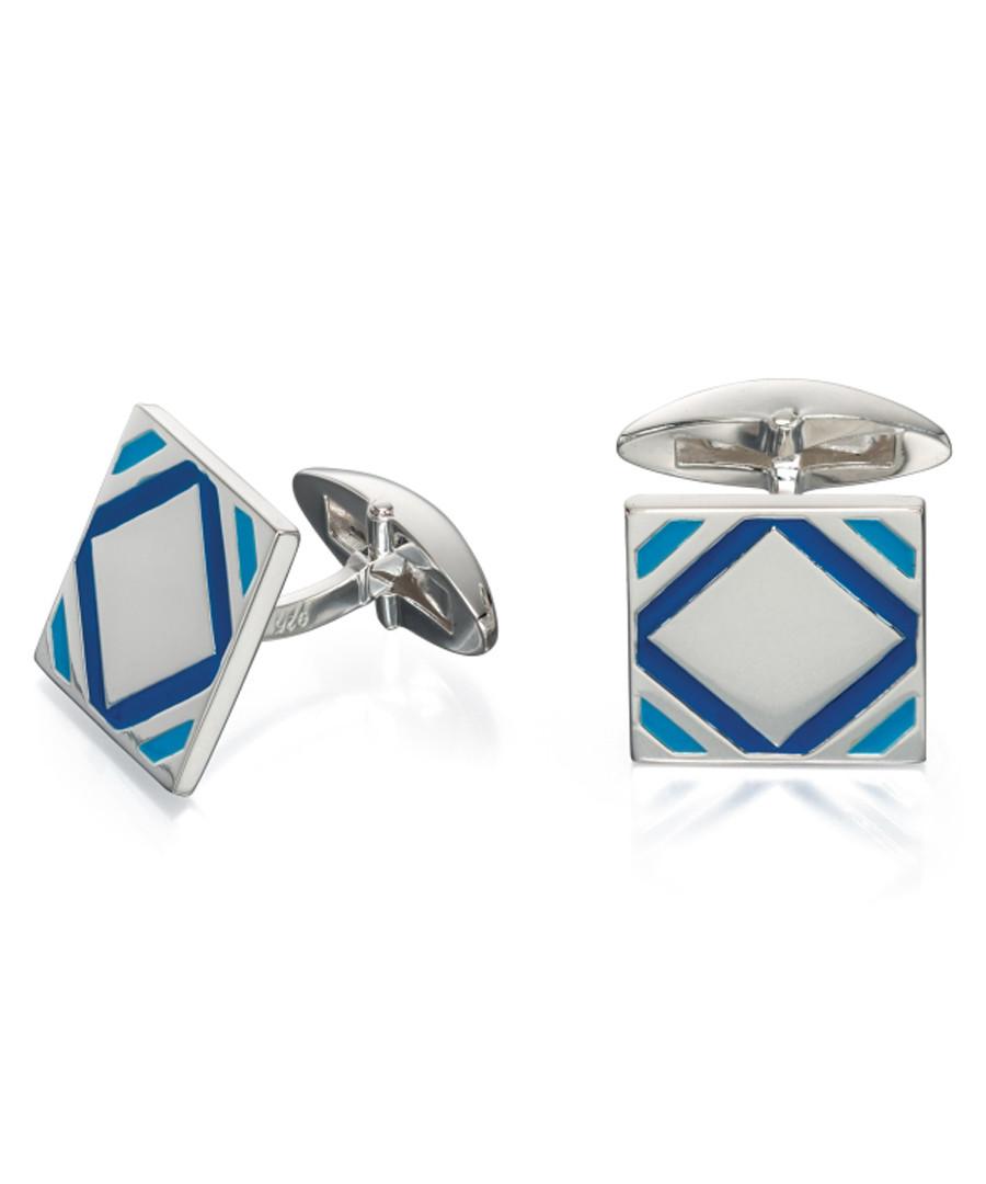 sterling silver & blue cufflinks Sale - fred bennett