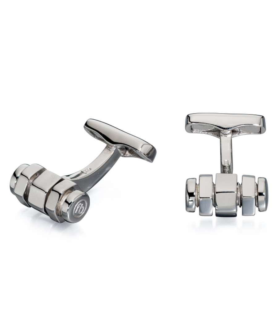 Rotating Bolt sterling silver cufflinks Sale - fred bennett