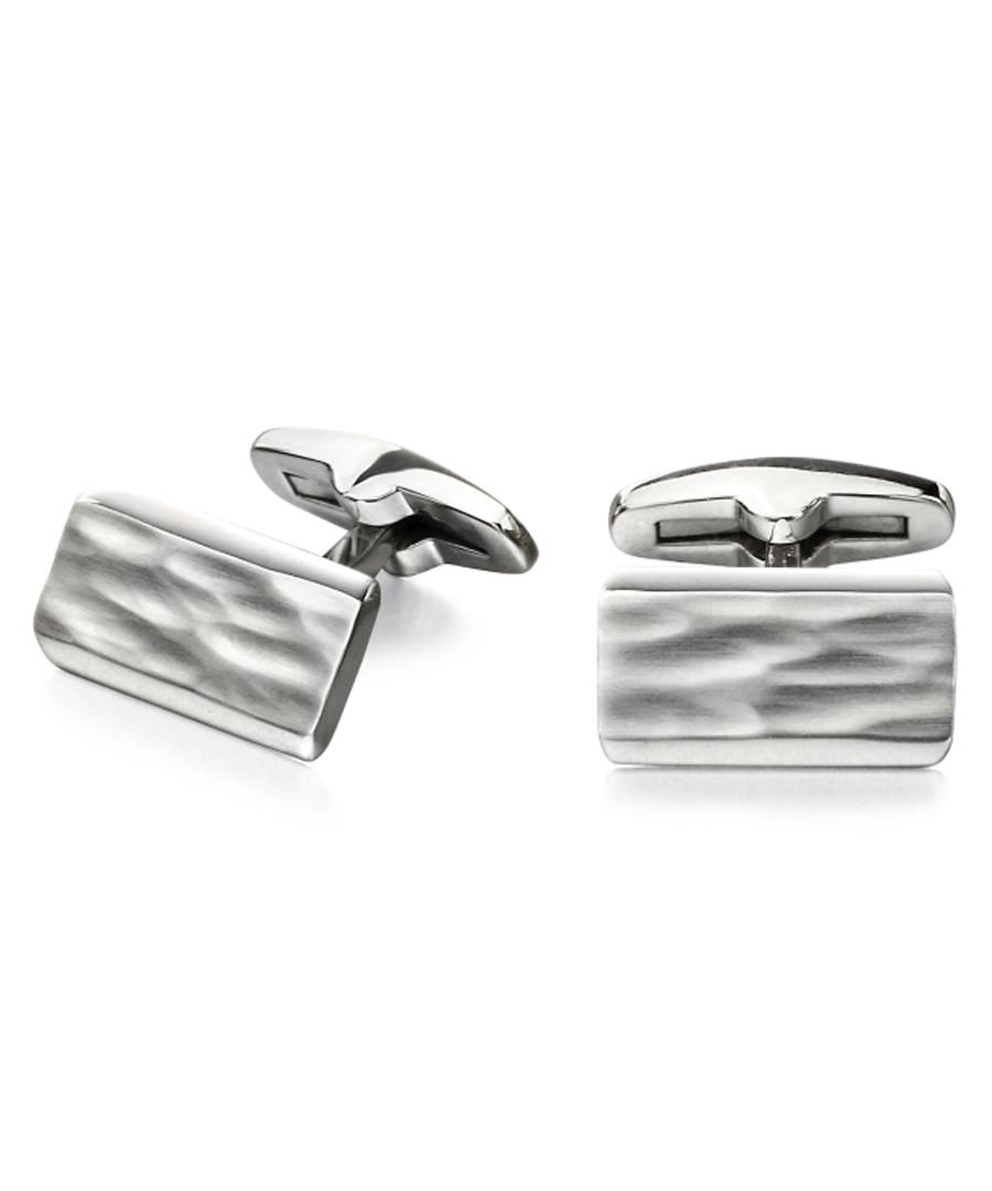 stainless steel ripple cufflinks Sale - fred bennett