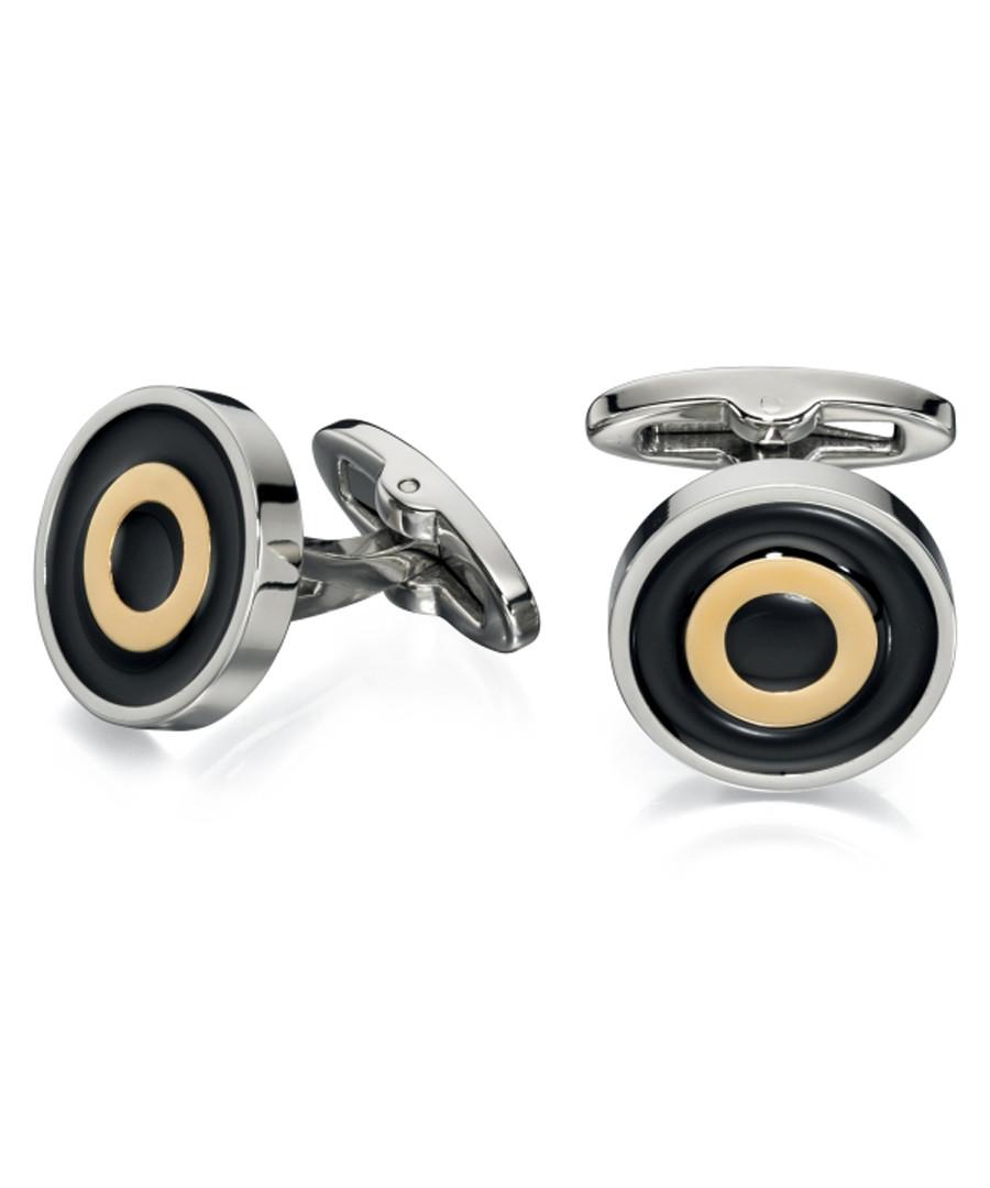 gold-plate steel target cufflinks Sale - fred bennett