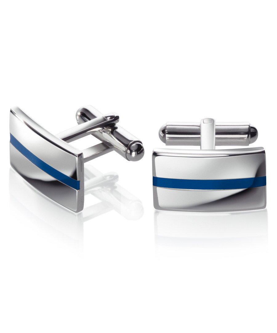 stainless steel & enamel cufflinks Sale - fred bennett